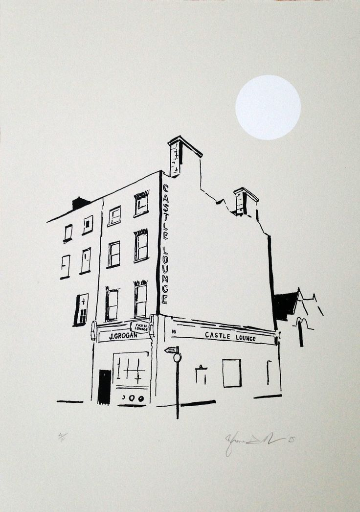Grogans at night screen print - Shane O Driscoll