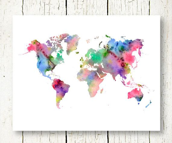 Hey, I found this really awesome Etsy listing at https://www.etsy.com/nz/listing/214890872/world-map-watercolor-printable