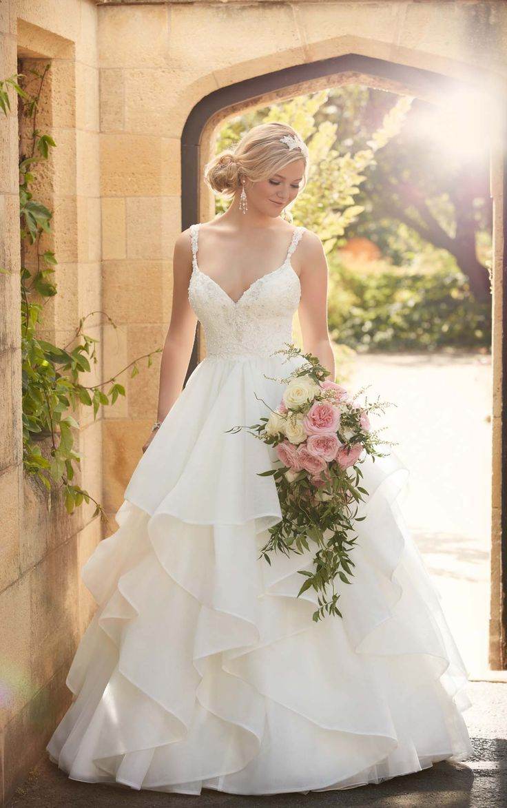 13 best Romantic Ruffled & Textured Wedding Dresses images on ...