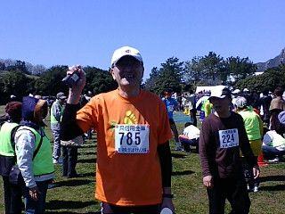 1st. half marathon!  The 1st. HIROSHIMA TOBOSHIMA Marathon at May 21 2011.  Time is 2h 10m 58s.