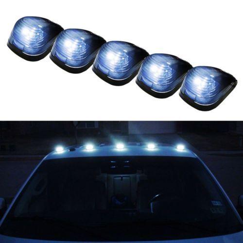 5pcs Smoked Lens+White LED Light Car Truck Off Road Roof Top Cab Marker Lights | eBay Motors, Parts & Accessories, Car & Truck Parts | eBay!