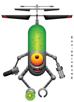 Alient drone Image for Onesie