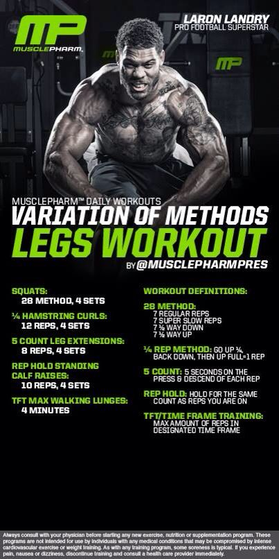 Variation of Methods Legs Workout
