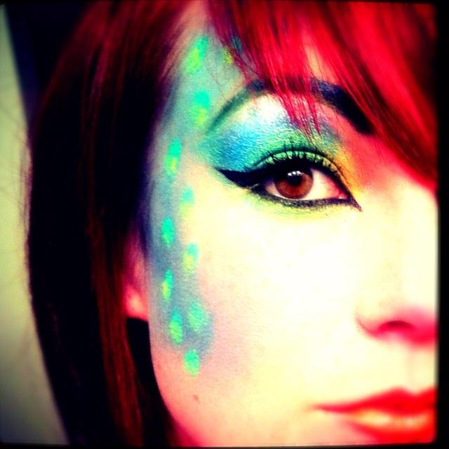 Mermaid fantasy makeup by Carly Massie