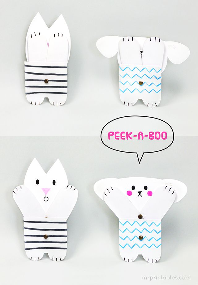 Peekaboo Jointed Paper Doll Template - Mr Printables