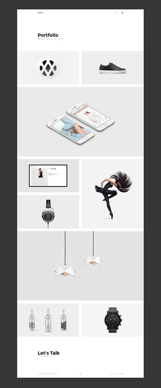 Nerduck – Sitio web de cartera mínima y creativa para Behance – #Behance #Creative …   – Kochen