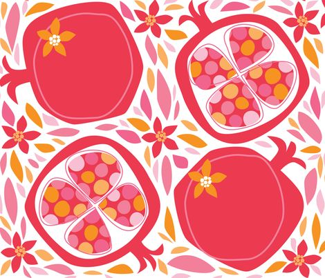 Pom-O-Roma fabric by bzbdesigner on Spoonflower - custom fabric Gorgeous colours and shapes :)