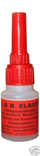 Sekundenkleber Bärenkleber ELASTISCH 180 ° Biegbar Atomkleber Cyanacrylat 20 g - 4,50 € + 2,- € Porto