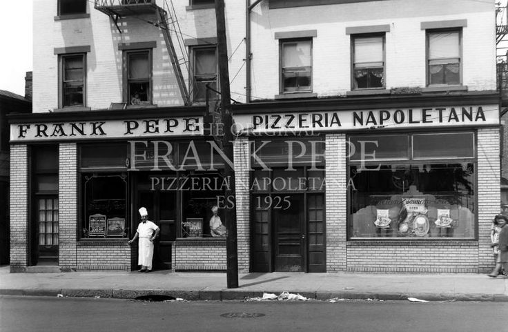 Original Frank Pepe Pizzeria Napoletana   EST. 1925  157 Wooster Street  New Haven, Connecticut