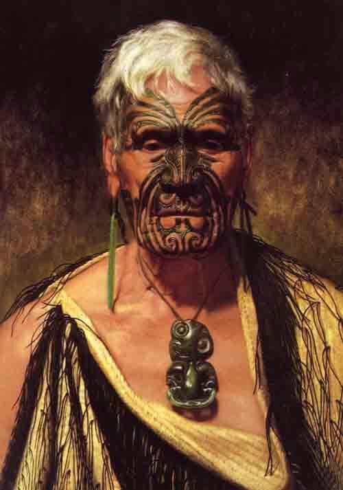 Maori man..