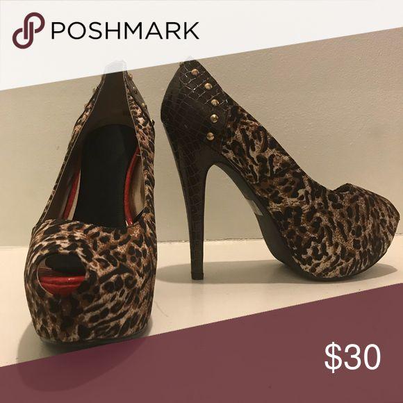 Shoes Animal print high heel shoes Shoes Heels