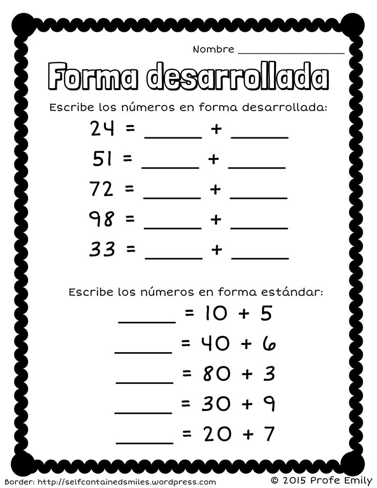freebie forma desarrollada quick place value worksheet to review or assess expanded form in. Black Bedroom Furniture Sets. Home Design Ideas