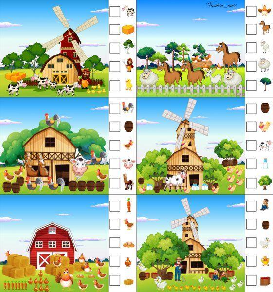 * Op de boerderij! Tellen maar! TIP: Gebruik losse cijferkaartjes zo heb je een extra spel voor in de kast!
