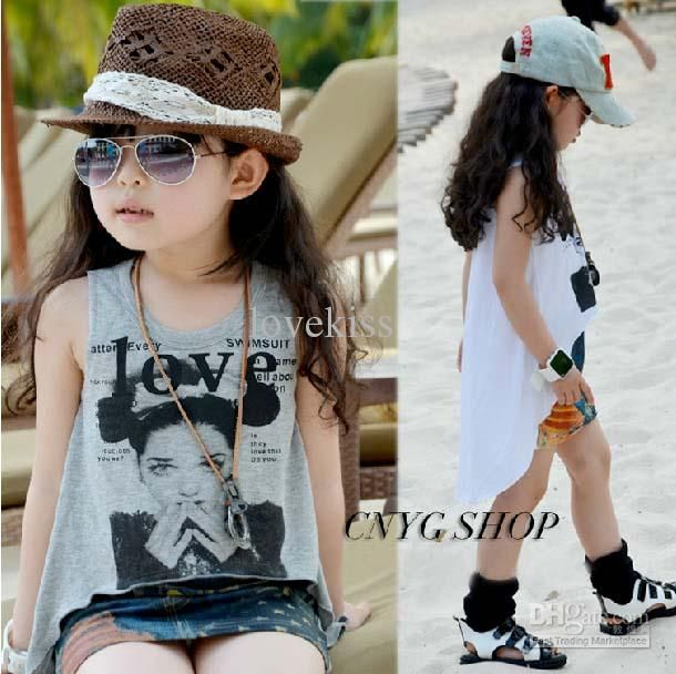 3b34a5fe5e Kids Summer Dress Children Clothing Fashion Casual Dresses Suspender Dress  Girls Printed Dresses
