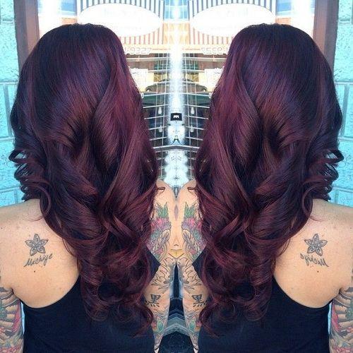 Black Cherry Hair Color for Dark Hair