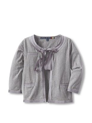 71% OFF Millions Of Colors Girl's Charmeuse Trimmed Cardigan (Heather Grey)
