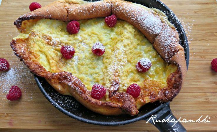 Ruokapankki: Pannukakku valurautapannulla, ihan superia! #ruokapankki #ruokablogi #foodie #food #ruoka #jälkiruoka #pancake #sweet #foodblogger