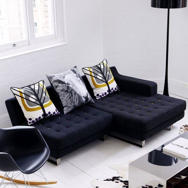 Via The Fancy   Naughtone Portion Chaise   Ferm Living Pillows   Black Eames Rocker