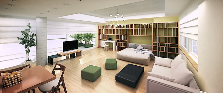 Apartment 60 m2 in Milano designed by (my)dezigner