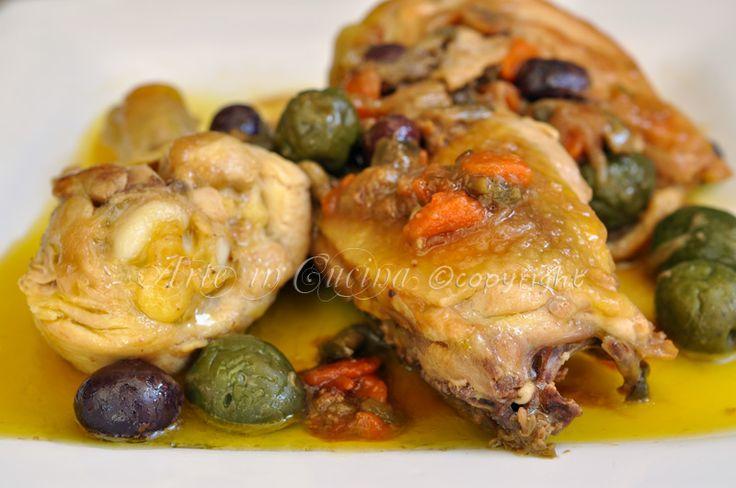 Pollo con olive e capperi a succhittu  | Arte in Cucina