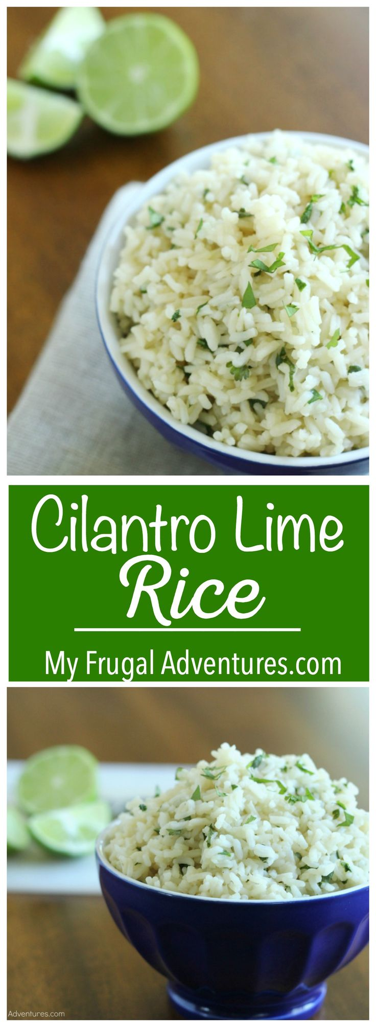 Copycat Chipotle Cilantro Lime Rice Recipe- so simple and so delicious!  This comes together in just minutes- perfect weekday meal idea.