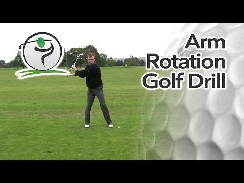 Arm Rotation Golf Drill - YouTube