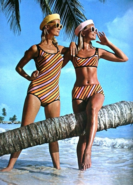 Elegance (Dutch) July 1966 - Striped swimsuits by Triumph International