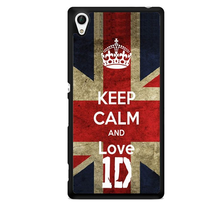 Keep Calm And Love One Direction TATUM-6126 Sony Phonecase Cover For Xperia Z1, Xperia Z2, Xperia Z3, Xperia Z4, Xperia Z5