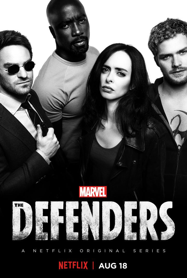 The Defenders Poster Unites Marvel's Netflix Heroes  Marvel's street-level Netflix heroes are almost ready to unite and a new poster for The Defenders teases the upcoming ensemble series.  Netflix has debuted a new poster for the streaming platform's next Marvel series featuring Daredevil Jessica Jones Luke Cage and Iron Fist.   Marvel's The Defenders  Netflix previously offered an extended look at the upcoming series with the show's first trailer.Mike Colter recently teased the evil entity…