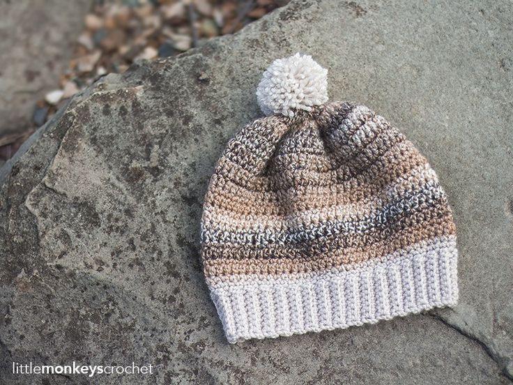 Riverbed Slouch Hat Crochet Pattern | Free slouchy hat crochet pattern by…
