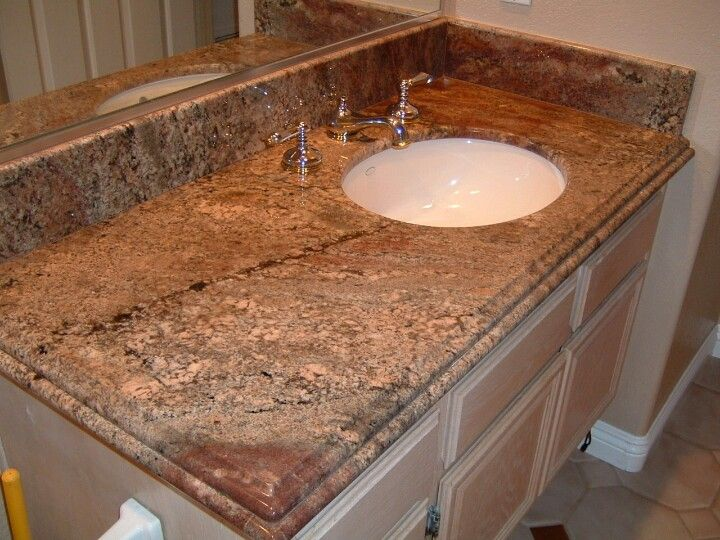 Creama Bordeaux Granite Vanity Countertoo Designs By