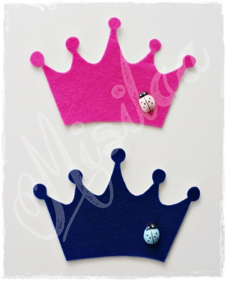Dolgusuz Keçe Taç * Bebek şekeri * keçe felt feltro / www.misilaa.com * Handmade * Baby shower * Crown * Magnet