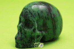 Robijn in Zoisiet Schedel KS-RMIN-24-348  ** prachtige Robijn in zoisiet schedel ***  Wordt jij de nieuwe care taker van deze kanjer !!!