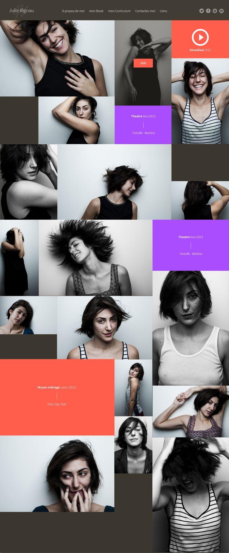 Julie—by GrafikWar | 02 Book #grid #portfolio #actress #photography #webdesign