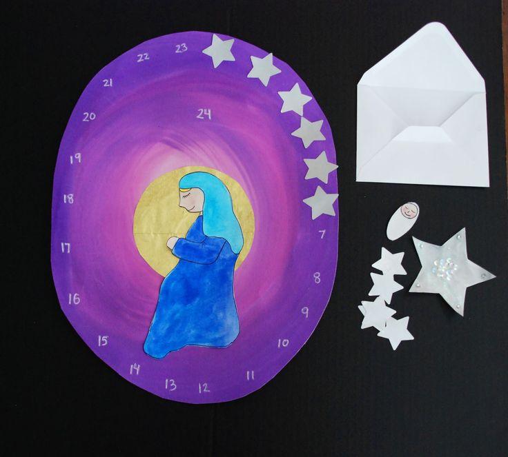 230 best crafts december advent spiral nature table images for Advent calendar craft for kids