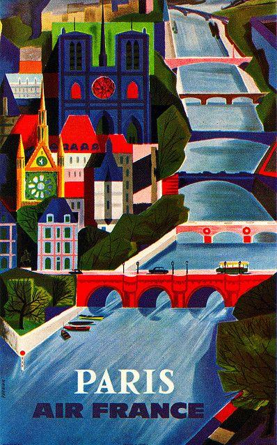 Graphic Design, Vintage Poster: Paris, vintage travel poster