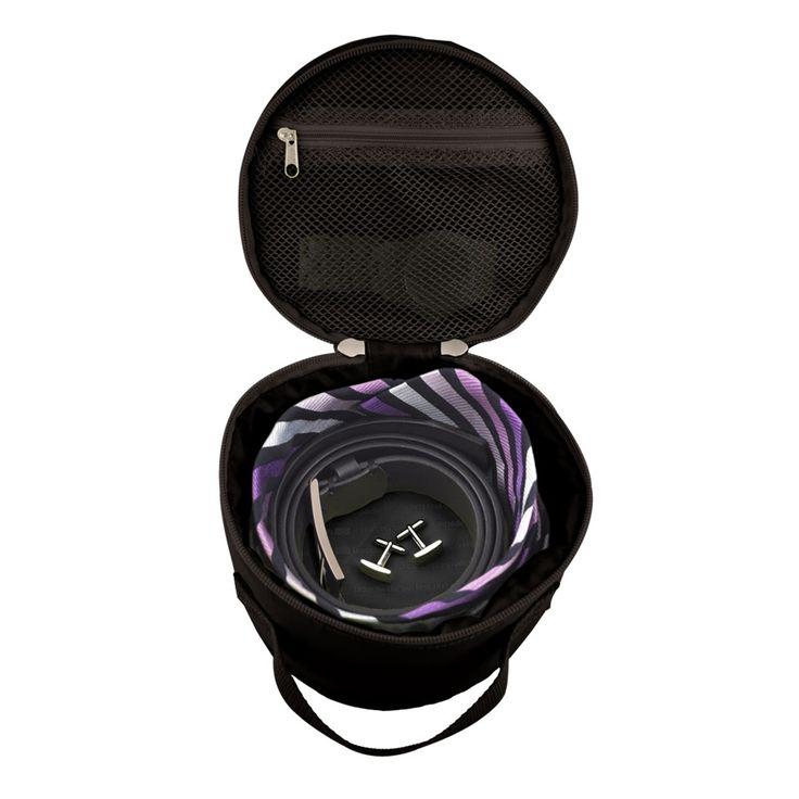 Lapoche Belt Up Tie Down Roll: Black - $24.95 $beltandtiecase #luggageorganiser #tiebeltcorganiser