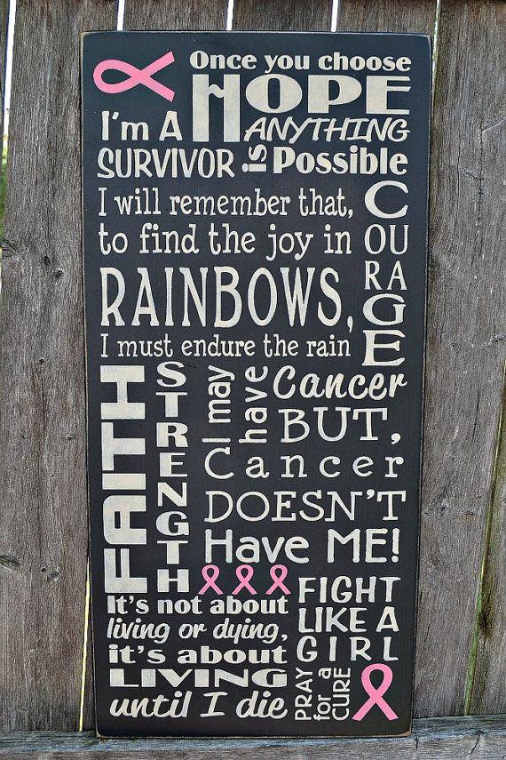 Breast Cancer Awareness Survivor primitive by PrimitiveHodgePodge wood sign