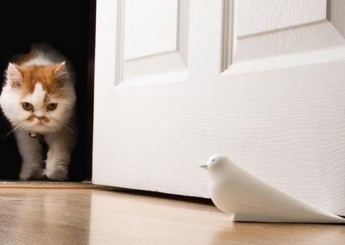 Para que tus puertas no vuelen!, fija puertas con forma de pájaro