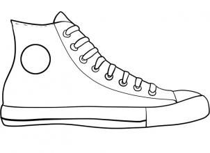 how to draw converse, how to draw chuck taylors step 6