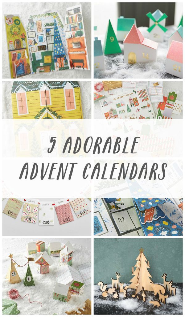 5 Adorable Christmas Advent Calendars 2016 - The Inspired Room