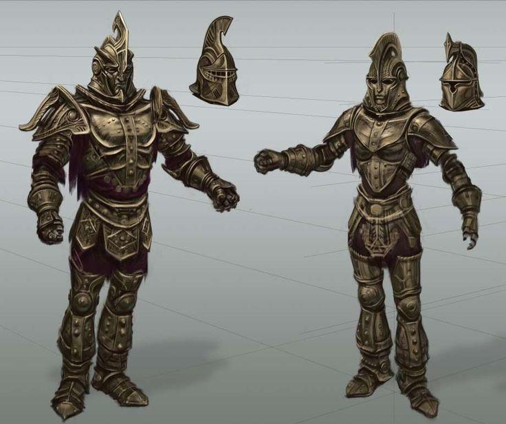 Dwemer Armor Rough Sketch Concept Art From The Elder