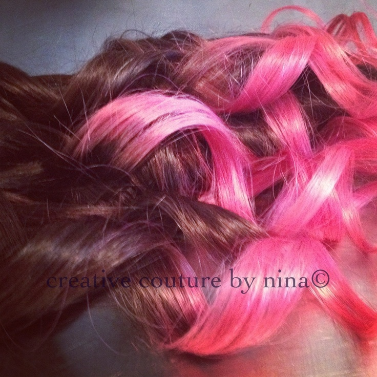 101 best studio she hair extensions images on pinterest makeup ombre hairdip dye hair dark brown pink ombre hair extensions vibrant pink pmusecretfo Images