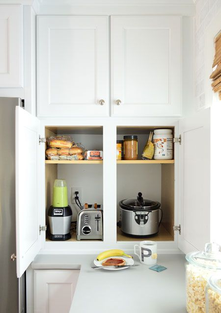 hidden appliance cabinet means a toaster and blender and crock pot at the ready thereu0027s