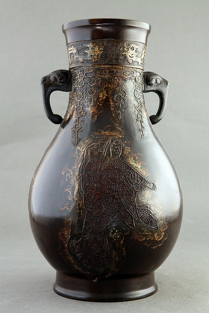 BRONZE VASE WITH GEISHA'S by MoonToad NL, via Flickr
