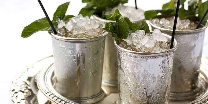 Mint Julep article and recipe for the Kentucky Derby.