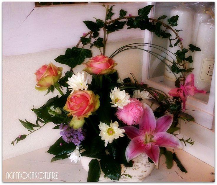 Kosz kwiatów.