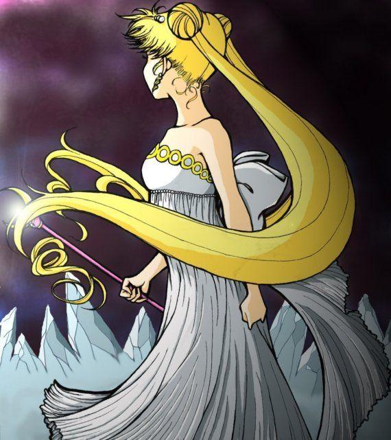 Sailor Moon Princess Serenity Before the Battle Print