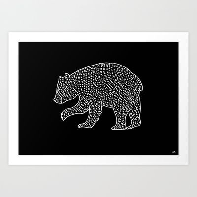 Bear Art Print by Laura Moreau - $15.00