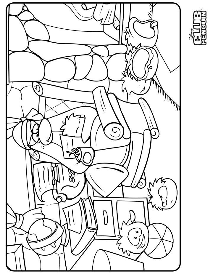 Club Penguin Coloring Pages Of Puffles 436